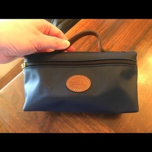 Navy Longchamp small cosmetic